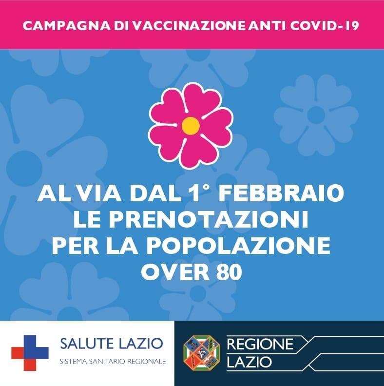 Regione Lazio_Campagna di vaccinazione Over80