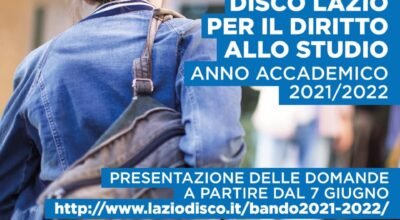 Regione Lazio – Bando Diritto allo Studio