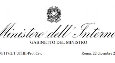 Ministero dell'Interno_Circolare 22/12/2020