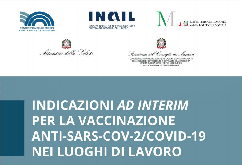 Vaccinazione anti-Covid nei luoghi di lavoro – le indicazioni ad interim