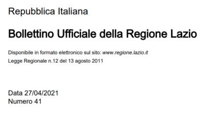 Regione Lazio – Disposizioni per la disciplina delle attivita' agrituristiche
