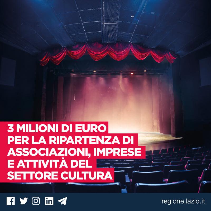 Regione Lazio – Bando per la promozione culturale